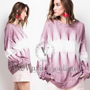 Mauve Tie Dye French Terry Sweatshirt